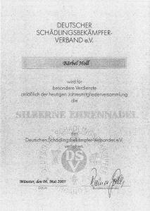 silberne Ehrennadel des DSV