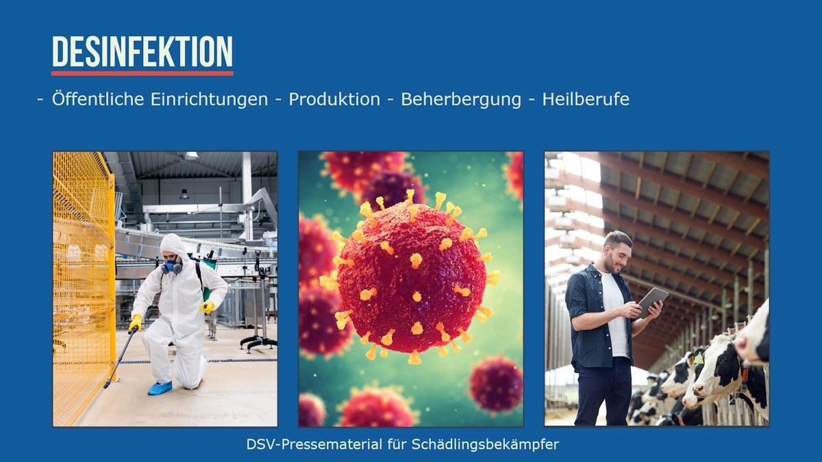 Desinfektion -öffentliche Einrichtungen -Produktion - Beherbergung - Heilberufe